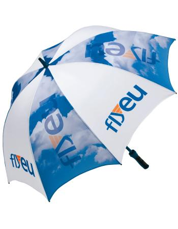 An example of our promotional umbrellas