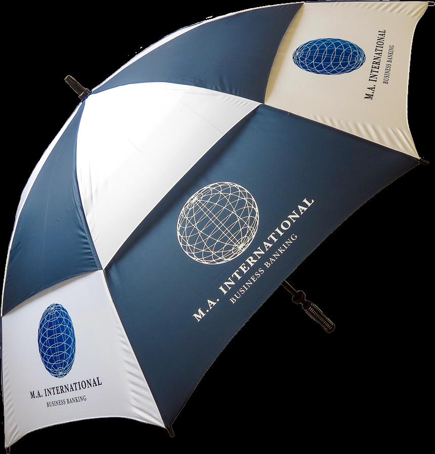 Raindrop Vented Golf Umbrellas