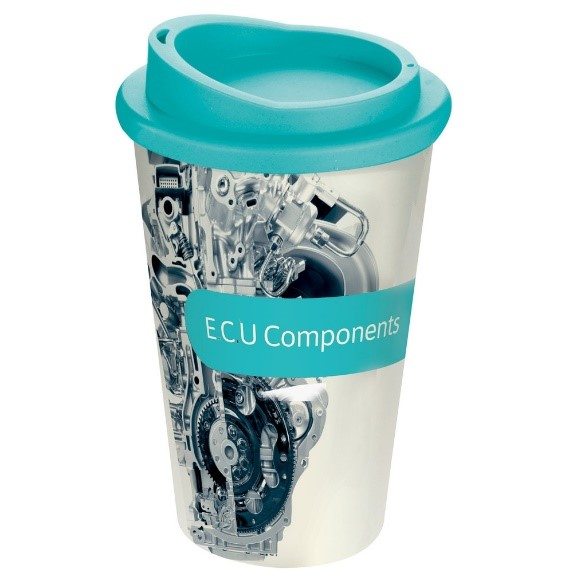A promotional gift which can be used again is even better- such as a mug or travel mug