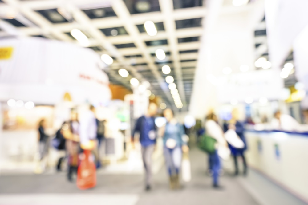 people on exhibition or trade show