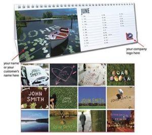 Personalised Desk Calendar
