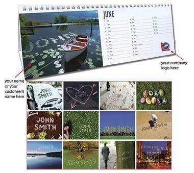 Regular personalised desk calendar